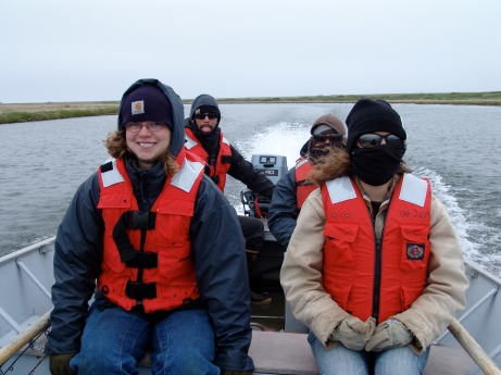Boating at Cape Krusenstern (Photo by Shelby Anderson 2009)