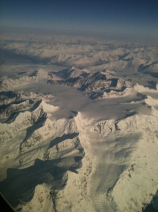 Coastal Range from the plane window (Photo by Shelby Anderson)